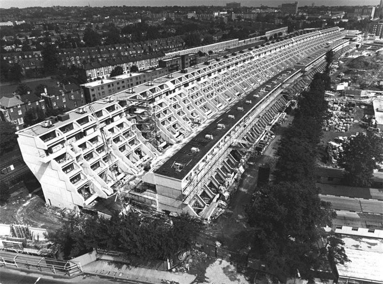 Alexandra Road Estate under construction Camden London