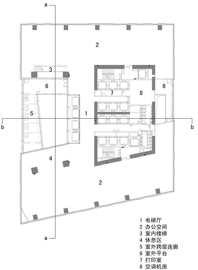 a 7标准层平面图