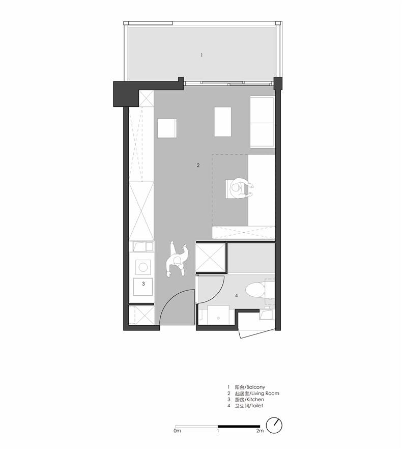 公寓典型户型平面1