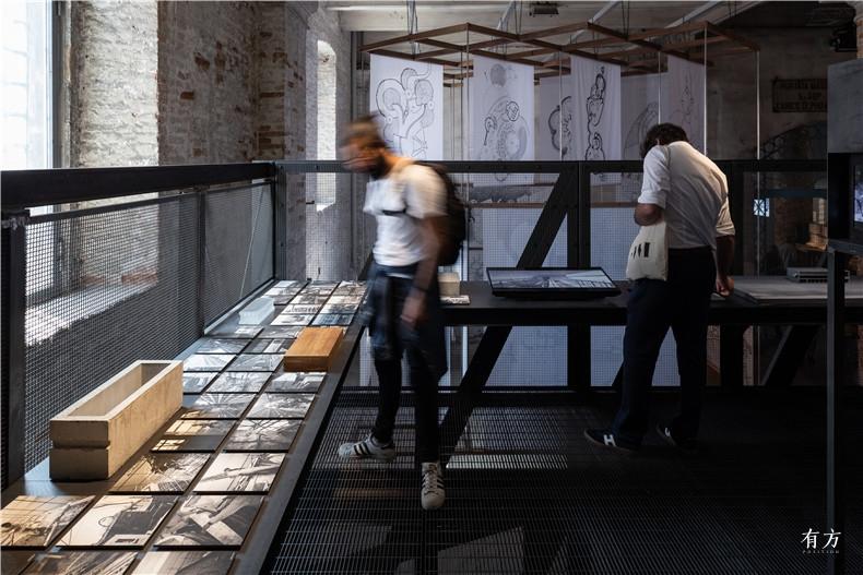 14二层展览 施工过程照片及材料样板Upper Level Floor Exhibits Construction Tracking and Material Samples