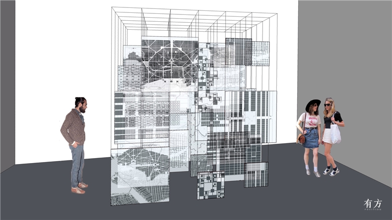 尹毓俊网格进化Framework Evolved文献装置亚克力数字打印铁架2017