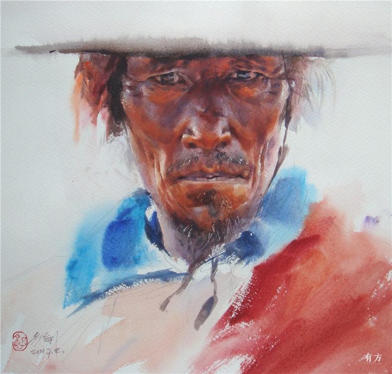 00-李舒西藏人物画02