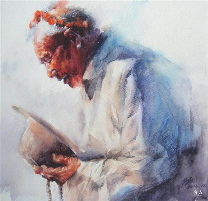 00-李舒西藏人物画05