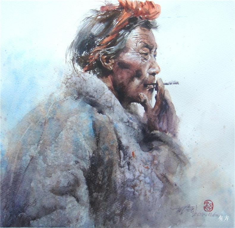00-李舒西藏人物画06