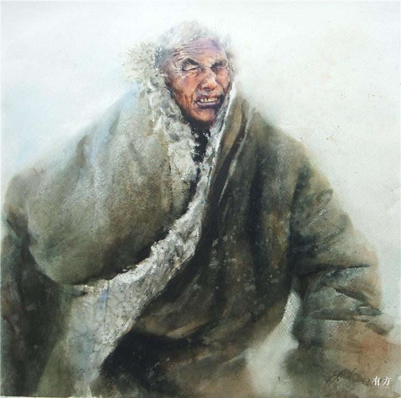 00-李舒西藏人物画07