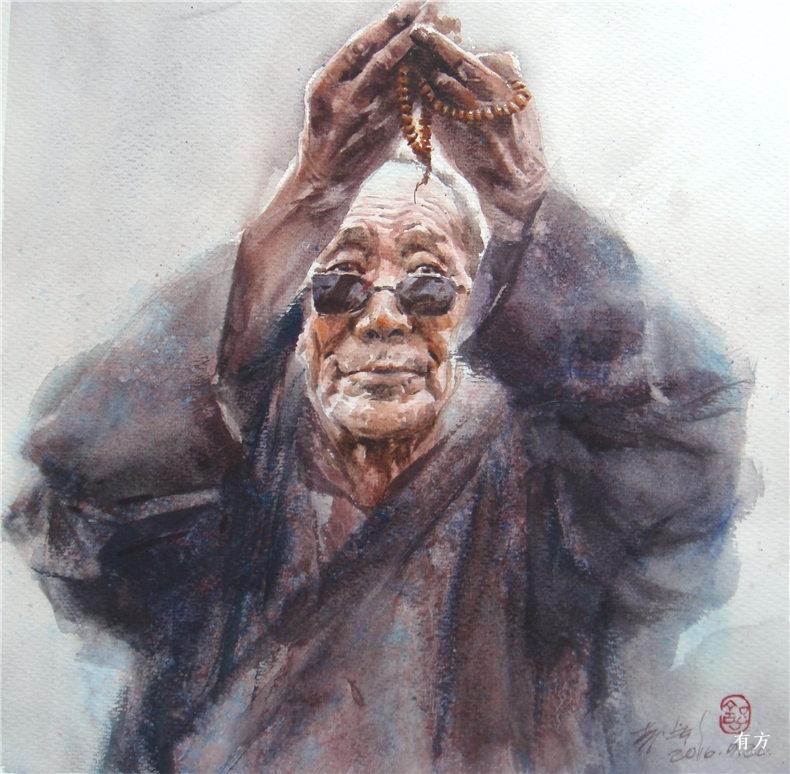 00-李舒西藏人物画08
