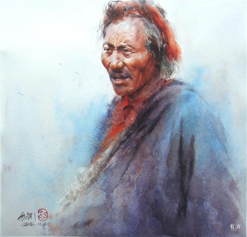 00-李舒西藏人物画09