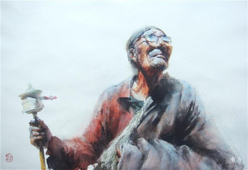 00-李舒西藏人物画12
