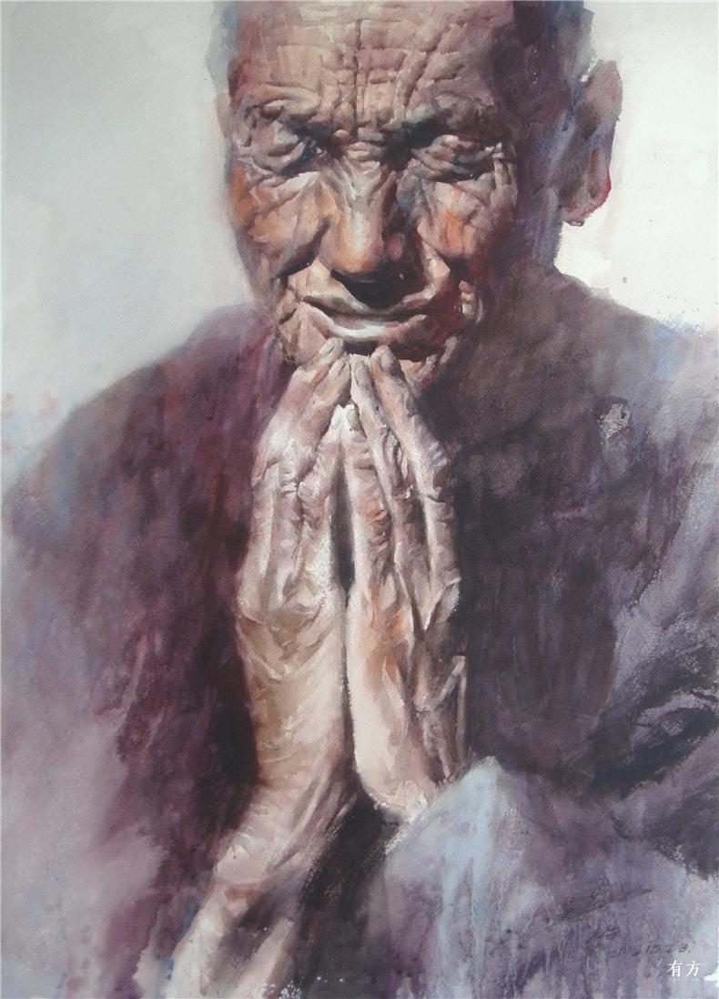 00-李舒西藏人物画13