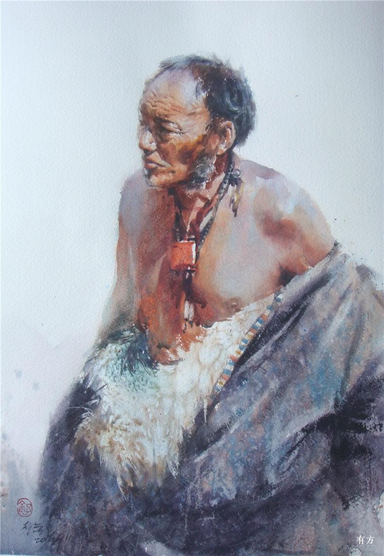 00-李舒西藏人物画16