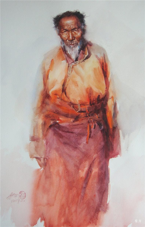 00-李舒西藏人物画17