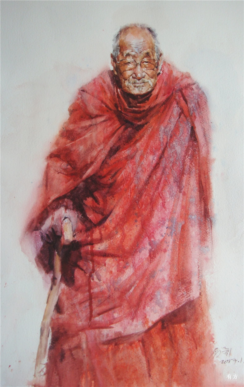 00-李舒西藏人物画18