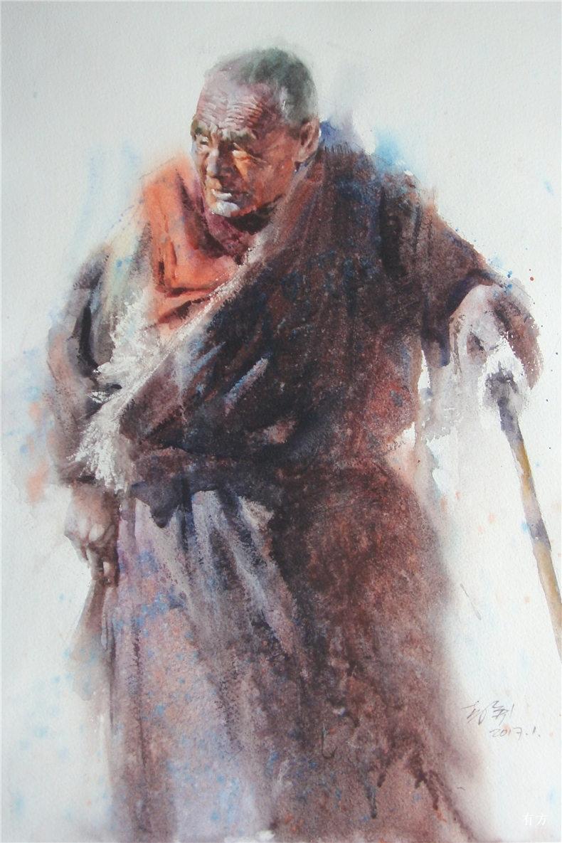 00-李舒西藏人物画19