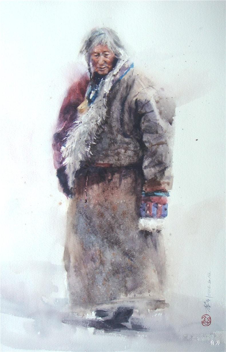 00-李舒西藏人物画20
