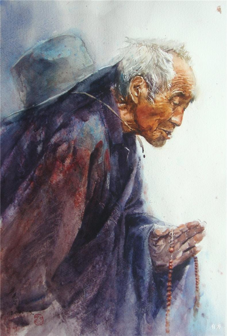 00-李舒西藏人物画22