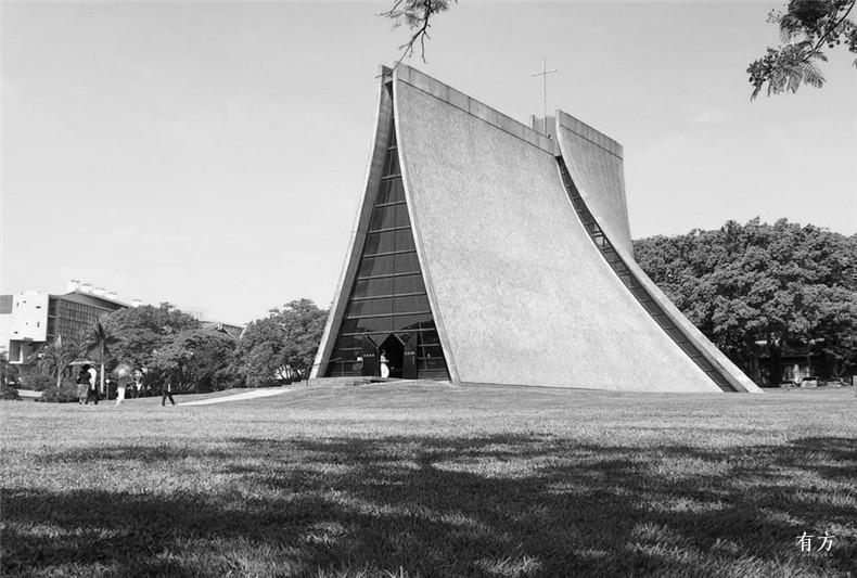 100张照片回顾贝聿铭的100岁人生11 路思义教堂台湾东海大学1956至1963年