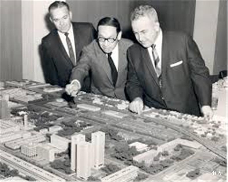 100张照片回顾贝聿铭的100岁人生15 贝聿铭与Oklahoma City市区规划