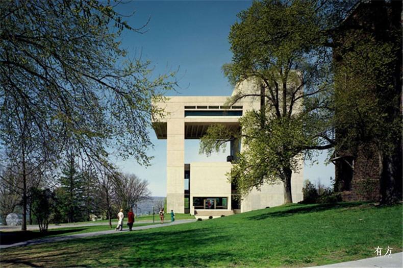 100张照片回顾贝聿铭的100岁人生23 康奈尔大学约翰逊艺术馆1973年