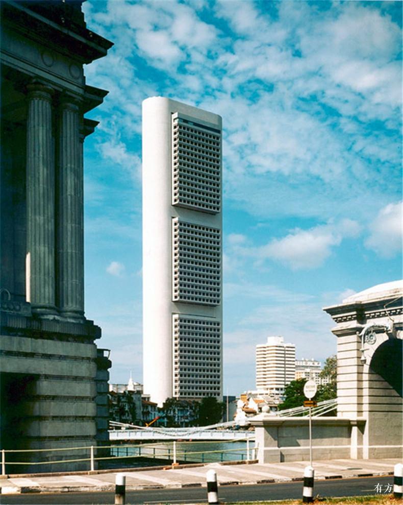 100张照片回顾贝聿铭的100岁人生29 新加坡OCBC Centre1976年