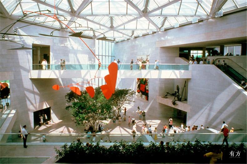 100张照片回顾贝聿铭的100岁人生31 国家美术馆东馆1978年