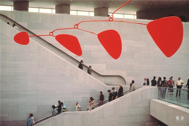 100张照片回顾贝聿铭的100岁人生33 国家美术馆东馆1978年