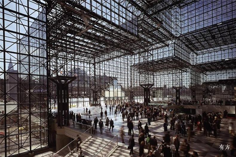 100张照片回顾贝聿铭的100岁人生38 纽约市贾维茨会展中心1979年