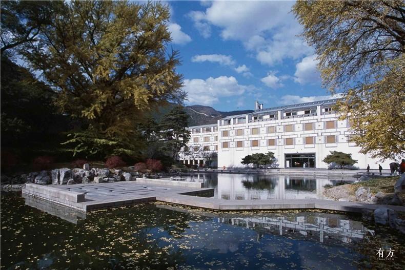 100张照片回顾贝聿铭的100岁人生45 香山饭店1982年