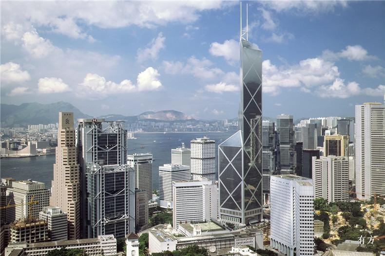 100张照片回顾贝聿铭的100岁人生47 香港中银大厦1982-1990年