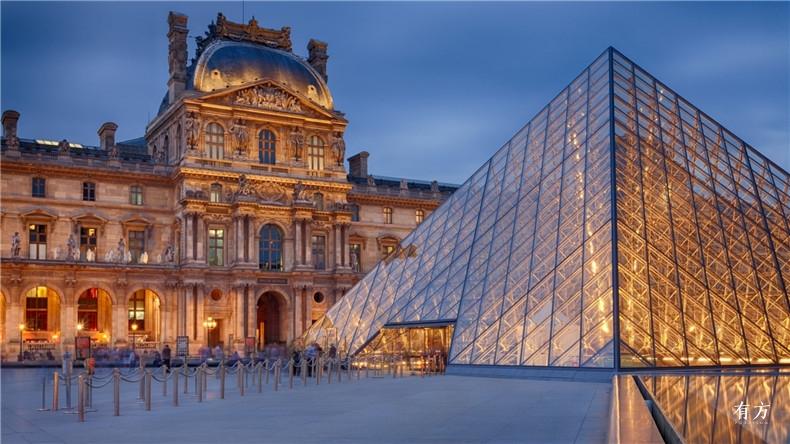 100张照片回顾贝聿铭的100岁人生51 卢浮宫改建1989年