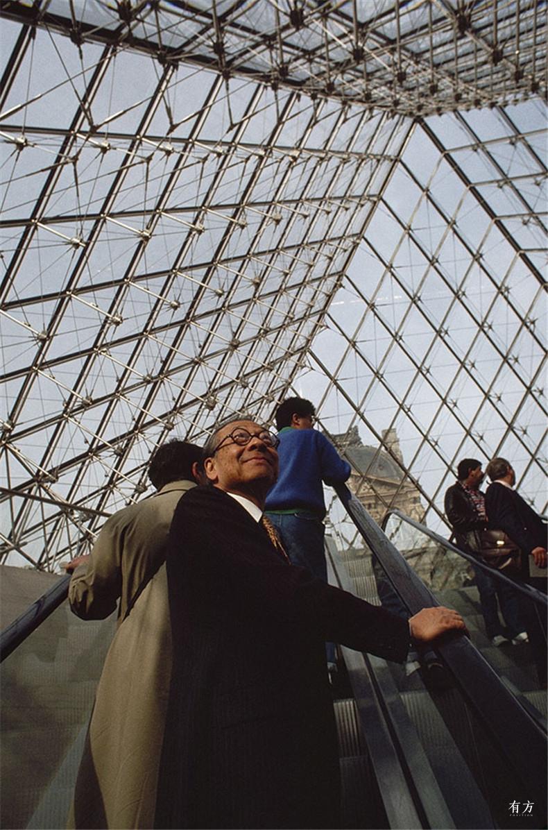100张照片回顾贝聿铭的100岁人生56 贝聿铭与卢浮宫
