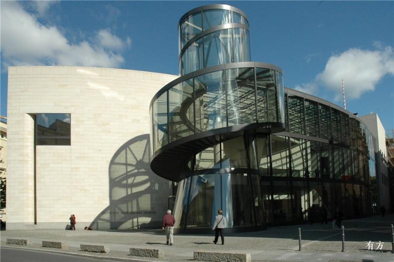 100张照片回顾贝聿铭的100岁人生59 德国历史博物馆新翼1990年