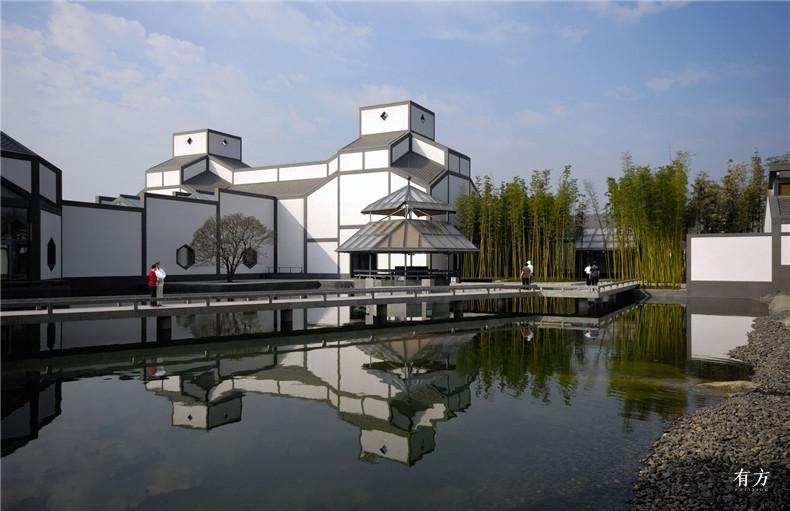 100张照片回顾贝聿铭的100岁人生69 苏州博物馆2002年