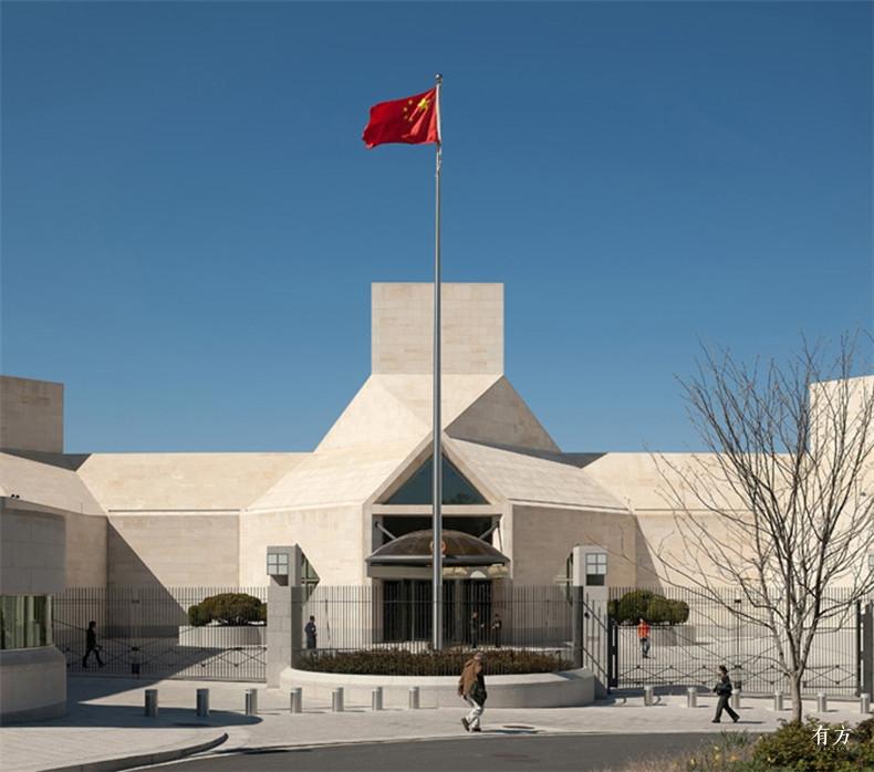 100张照片回顾贝聿铭的100岁人生78 中国驻美大使馆2004年