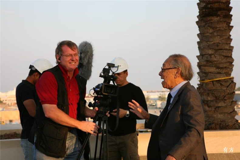 100张照片回顾贝聿铭的100岁人生89 贝聿铭与伊斯兰艺术博物馆2006年