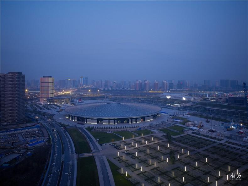 中国太原煤炭交易中心 全区鸟瞰夜景