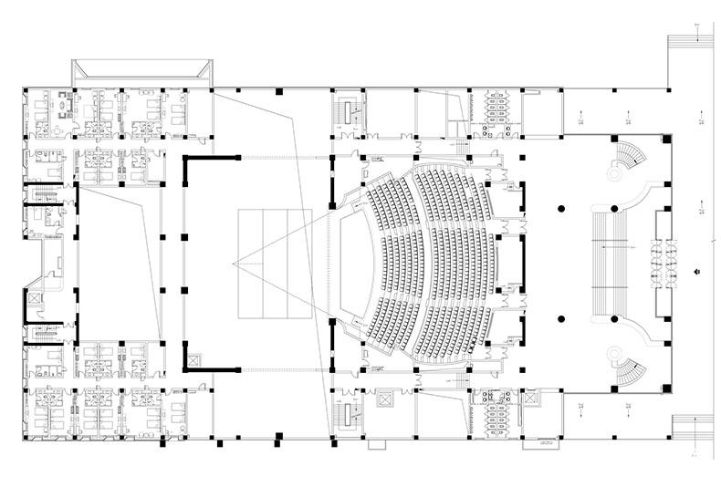 00-清华院渭南文化艺术中心-大剧场一层平面图