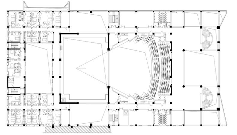 00-清华院渭南文化艺术中心-大剧场三层平面图