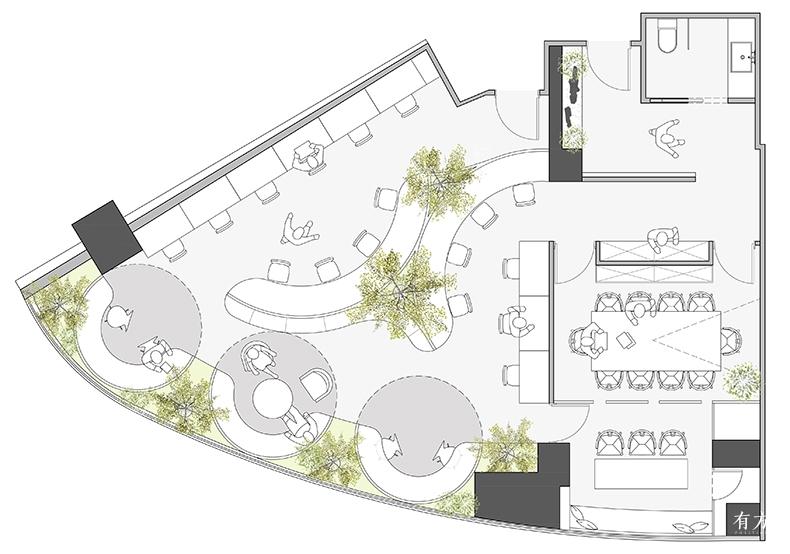 工作花园平面布置图