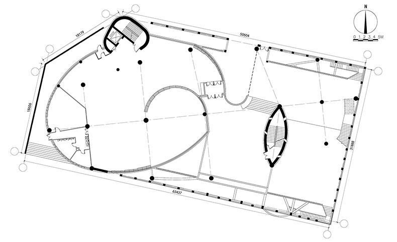 东庄 西域建筑馆 新疆玉点建筑设计 一层平面图