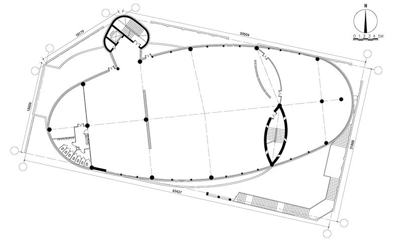 东庄 西域建筑馆 新疆玉点建筑设计 三层平面图
