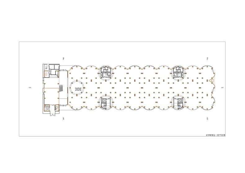 八万吨筒仓一层平面图棕 原有结构黑 新建 页面 01