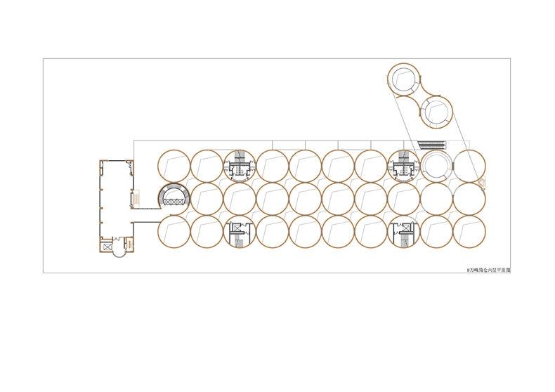 八万吨筒仓一层平面图棕 原有结构黑 新建 页面 06