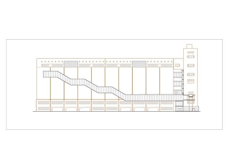 八万吨筒仓一层平面图棕 原有结构黑 新建 页面 09
