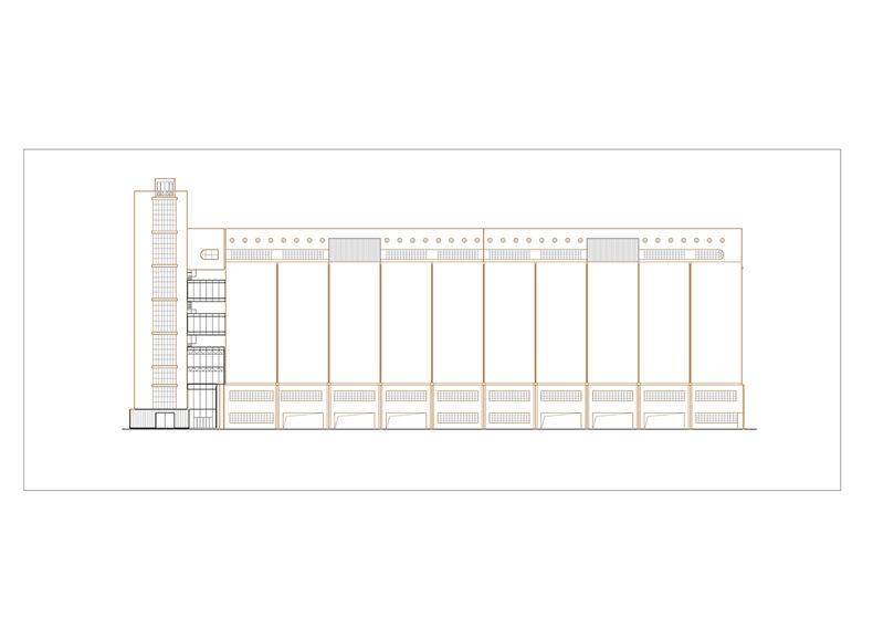 八万吨筒仓一层平面图棕 原有结构黑 新建 页面 10