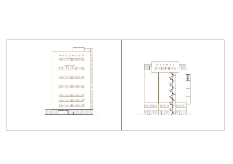 八万吨筒仓一层平面图棕 原有结构黑 新建 页面 11