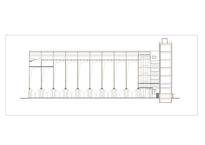 八万吨筒仓一层平面图棕 原有结构黑 新建 页面 12