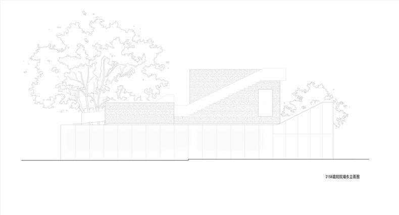 庭院院墙东立面