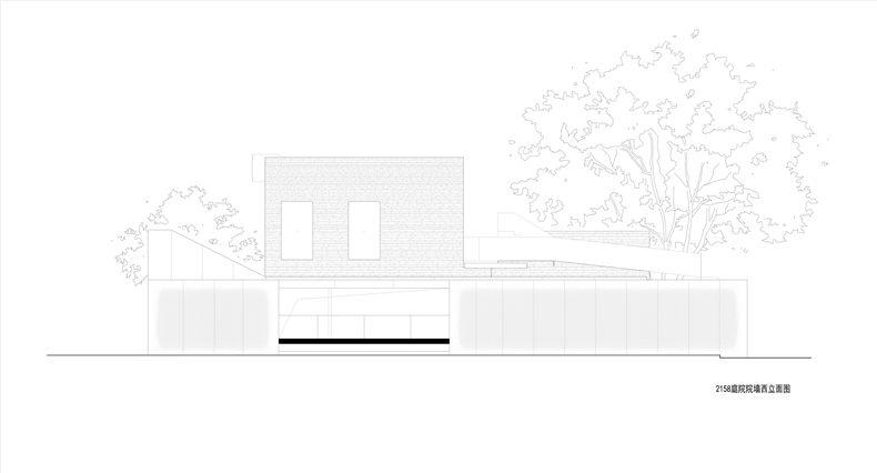 庭院院墙西立面