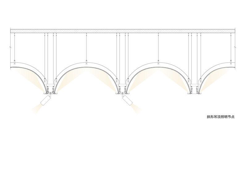 拱形吊顶照明节点