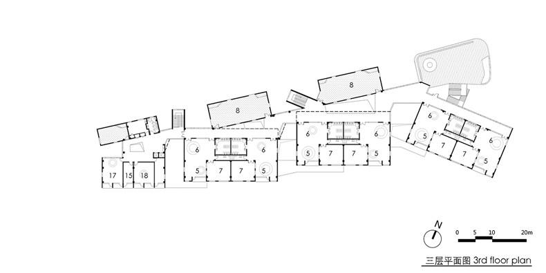 04 三层平面图 3F plan